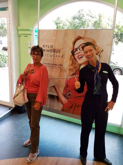 Specsavers Calpe welcomes a famous face